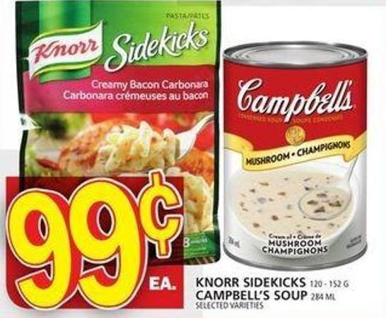 Knorr Sidekicks Or Campbell's Soup