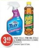 Tilex (946ml) - Pine-sol (828ml) or Clorox Household Cleaning Products