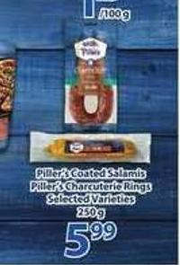 Piller's Coated Salamis - Piller's Charcuterie Rings - 250 G