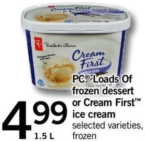PC Loads Of Frozen Dessert Or Cream First Ice Cream - 1.5 L