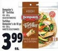 Dempster's 10in Tortillas 426 - 610 g