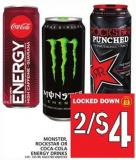 Monster - Rockstar Or Coca-cola Energy Drinks