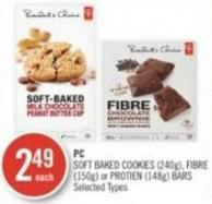 PC Soft Baked Cookies (240g) - Fibre (150g) or Protien (148g) Bars