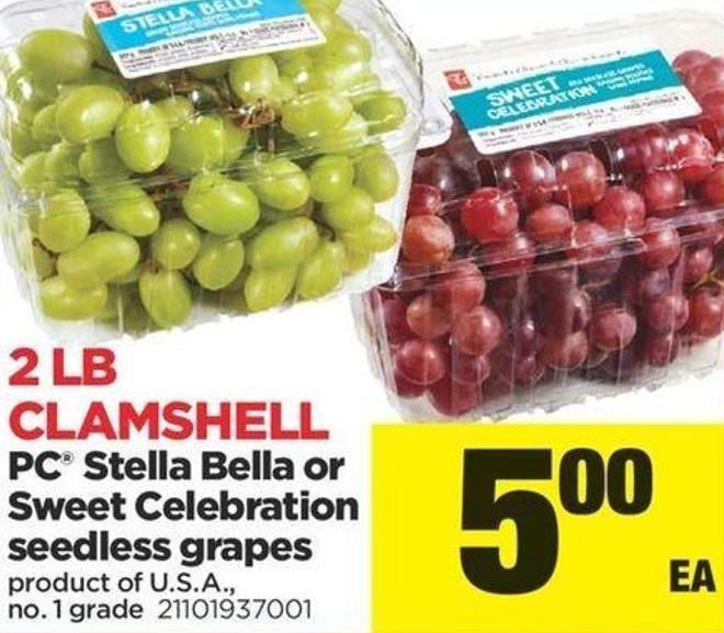 PC Stella Bella Or Sweet Celebration Seedless Grapes