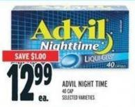 Advil Night Time 40 Cap