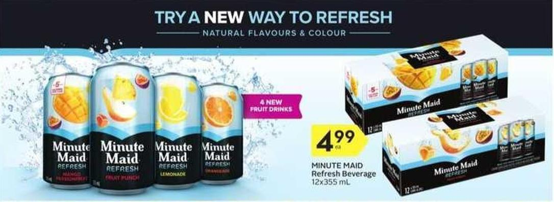 Minute Maid Refresh Beverage