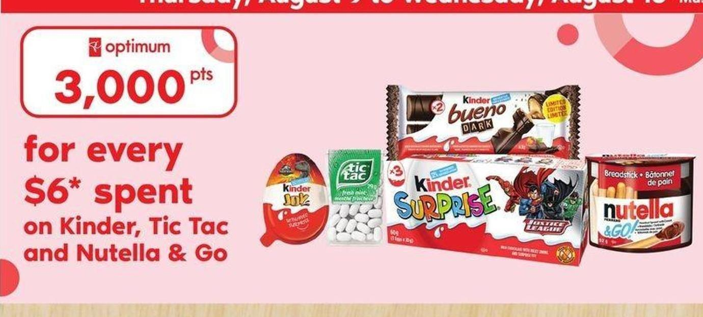 Kinder - Tic Tac And Nutella & Go