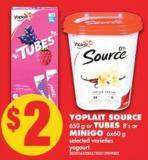 Yoplait Source - 650 g or Tubes 8's or Minigo - 6x60 g