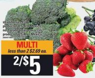 Strawberries 454 G Or Large Broccoli