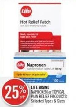 Life Brand Naproxen or Topical Pain Relief Products