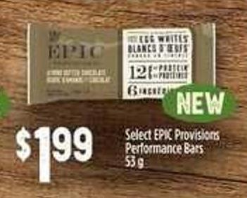 Select Epic Provisions Performance Bars