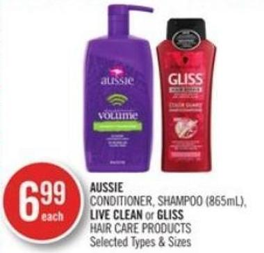 Aussie Conditioner - Shampoo (865ml) - Live Clean or Gliss Hair Care Products