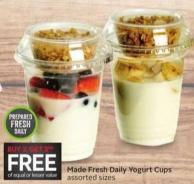 Made Fresh Daily Yogurt Cups