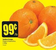 Seedless Oranges Product of South Africa 2.18/kg