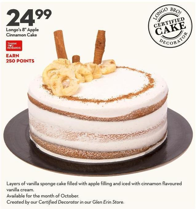 Longo's 8in Apple  Cinnamon Cake