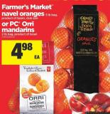 Farmer's Market Navel Oranges - Lb Bag Or PC Orri Mandarins - 2 Lb Bag