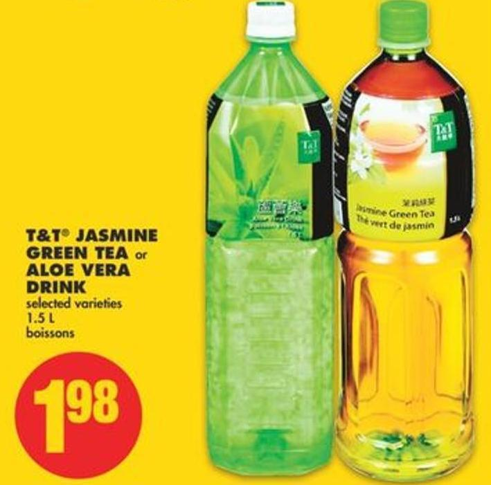 T&t Jasmine Green Tea or Aloe Vera Drink - 1.5 L