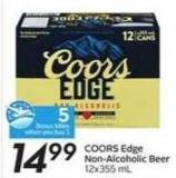Coors Edge Non-alcoholic Beer - 5 Air Miles Bonus Miles
