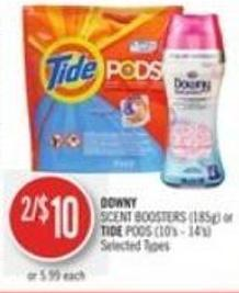 Downy Scent Boosters (185g) or Tide PODS (10's - 14's)