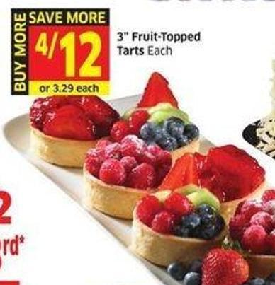 3in Fruit-topped Tarts
