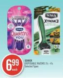 Schick Disposable Razors 3's - 4's
