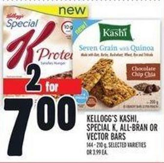 Kellogg's Kashi - Special K - All-bran or Vector Bars
