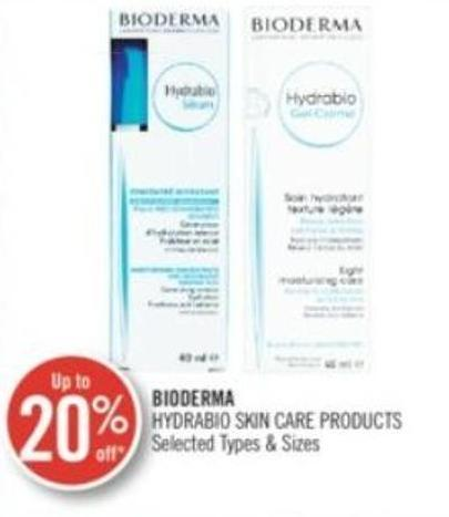 Bioderma Hydrabio Skin Care Products