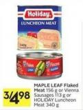 Maple Leaf Flaked Meat