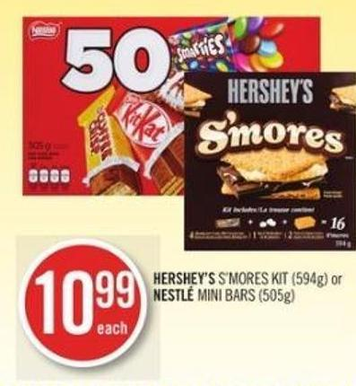 Hershey's S'mores Kit (594g) or Nestlé Mini Bars (505g)