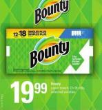 Bounty Paper Towels - 12=18 Rolls