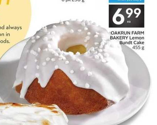 Oakrun Farm Bakery Lemon Bundt Cake - 5 Air Miles Bonus Miles