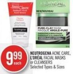 Neutrogena Acne Care - L'oréal Facial Masks or Cleansers