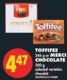 Toffifee - 246 g or Merci Chocolate - 200 g
