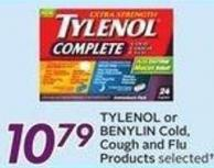 Tylenol or Benylin Cold - Cough and Flu Products - Get 50 Air Miles Bonus Miles