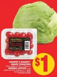 Farmer's Market Grape Tomatoes 255 g - Product of U.S.A. or Mexico or Iceberg Lettuce Each.