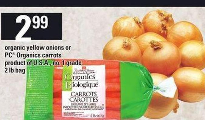 Organic Yellow Onions Or PC Organics Carrots - 2 Lb Bag