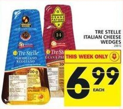 Tre Stelle Italian Cheese Wedges