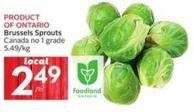 Brussels Sprouts Canada No 1 Grade 5.49/kg