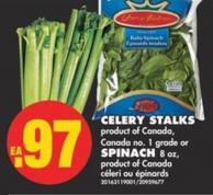 Celery Stalks or Spinach 8 Oz.
