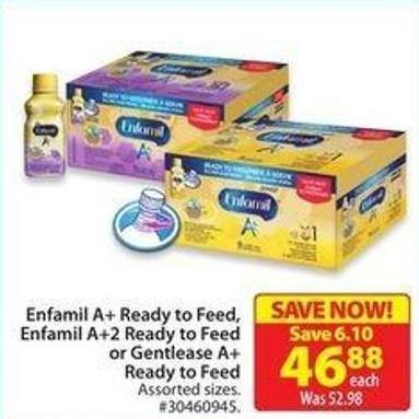 Enfamil A+ Ready To Feed - Enfamil A+2 Ready To Feed or Gentlease A+ready To Feed