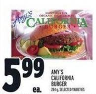 Amy's California Burger 284 g