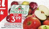 Paula Red or Ginger Gold Apples