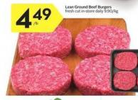 Lean Ground Beef Burgers