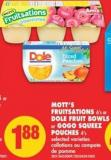 Mott's Fruitsations 6's or Dole Fruit Bowls or Gogo Squeez Pouches 4's