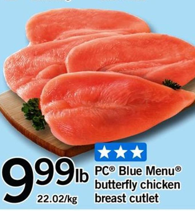 PC Blue Menu Butterfly Chicken Breast Cutlet