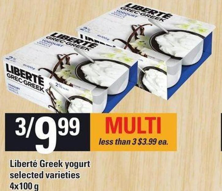 Liberté Greek Yogurt - 4x100 g