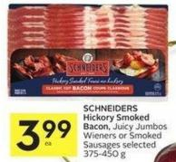 Schneiders Hickory Smoked Bacon - Juicy Jumbos Wieners or Smoked