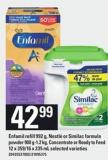 Enfamil Refill - 992 G - Nestlé Or Similac Formula Powder - 900 G-1.2 Kg - Concentrate Or Ready To Feed - 12 X 359/16 X 235 Ml