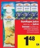 Sunrype Juice - 900 Ml Or Juice Boxes - 5x200 Ml
