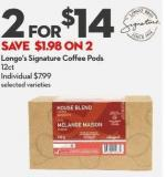 Longo's Signature Coffee Pods  12ct